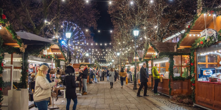 Lights galore in Oslo, where LED streetlights equipped with sensors automatically adjust the lights' warmth and intensity to match the weather. Photo by Hanlu C on Flickr's Creative Commons.