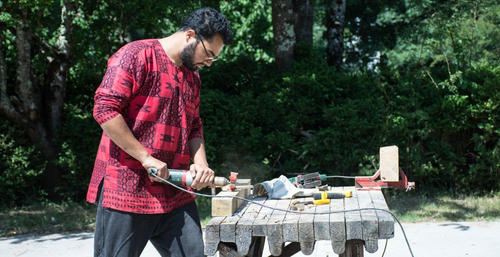 Zain Islam-Hashmi has spent his summers interning around the world from Pakistan, Japan, Ghana and France. In France he helped host hands-on summer workshops at Domaine de Boisbuchet in southwest France for aspiring architects and designers. Image credit: Zain Islam-Hashmi