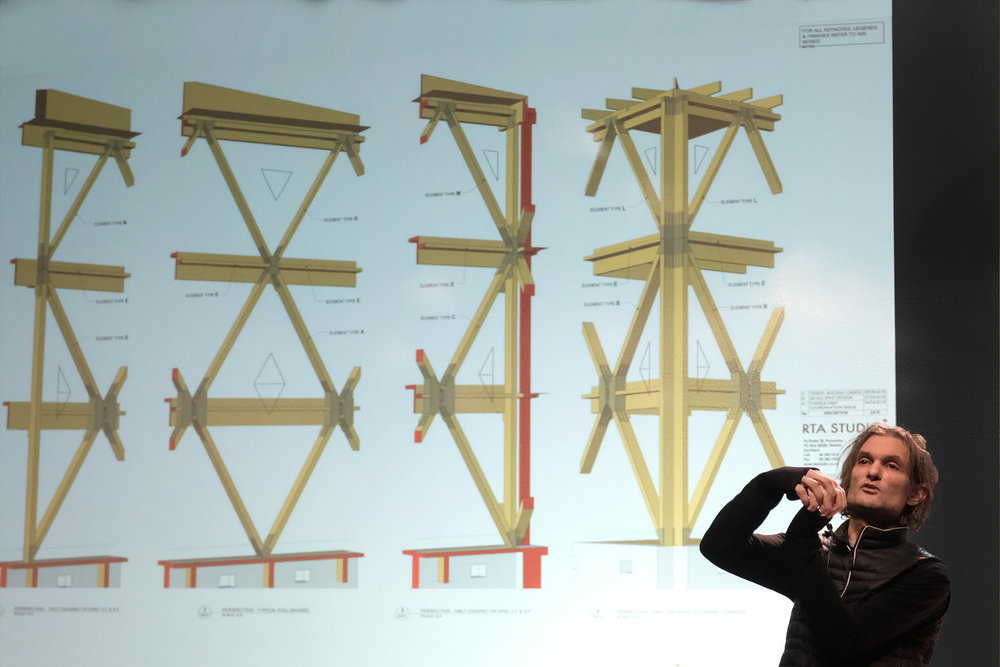 "The School of Architecture welcomed Jeremy Smith of Irving Smith Architects on Monday 25 February for the 2019 Spring Lecture Series. The New Zealand-based practice works within the context of ""soft architecture"" by embracing architectural design that conforms to shifting times and landscapes. Image: Michael Powell, Carnegie Mellon School of Architecture"
