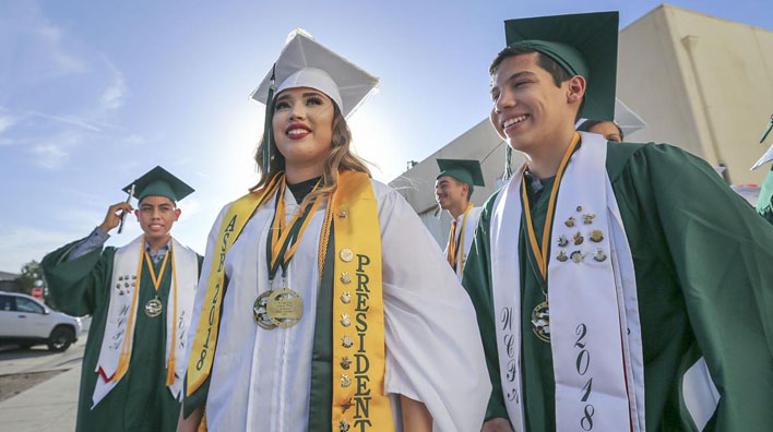 The Bakersfield Californian  covers the Wonderful College Prep Academy 2018 Graduation