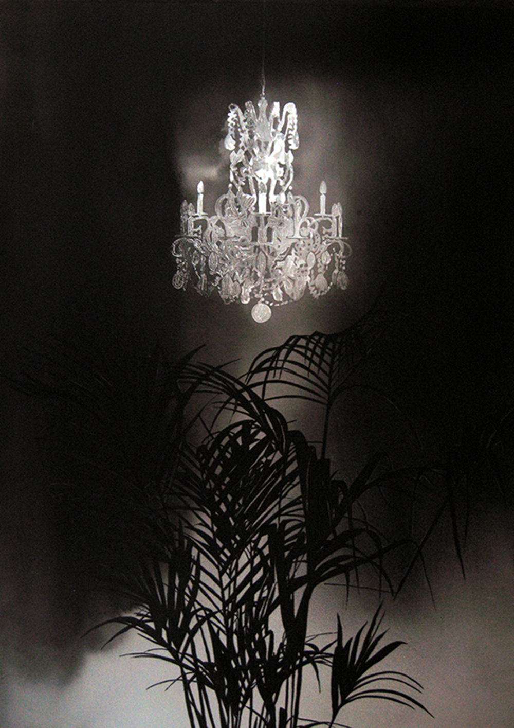 Chandelier with Palm