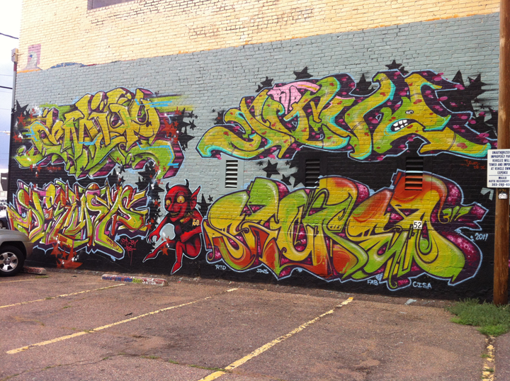 Emit and Jive and some other homies from RTA crew.