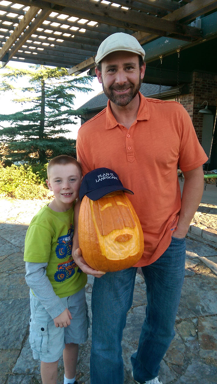 NICE! A bearded pumpkin! Who'd have thought?!