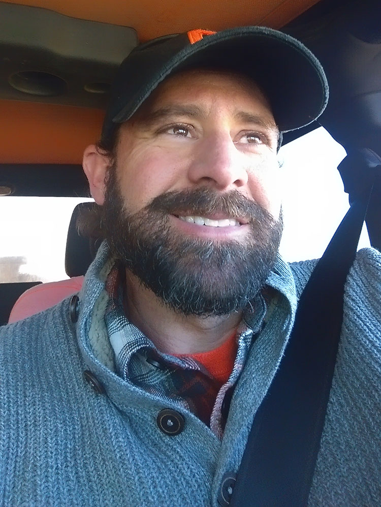 Kevin Rhodes lookin'straight out of a Eddie Bauer catalog. Nice bearding, dude!