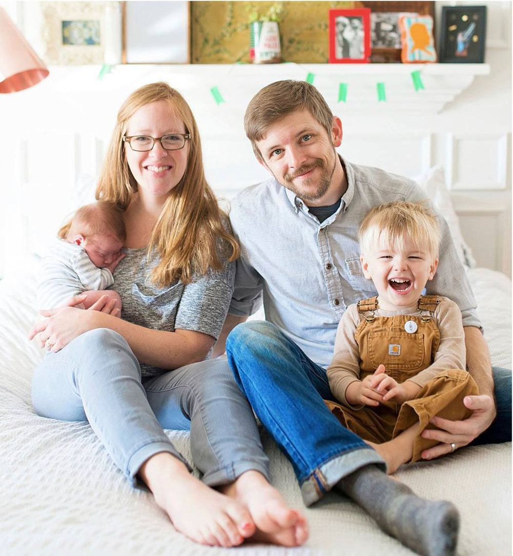 Adam and Lindsay Zodrow with sons Finn and Noah.