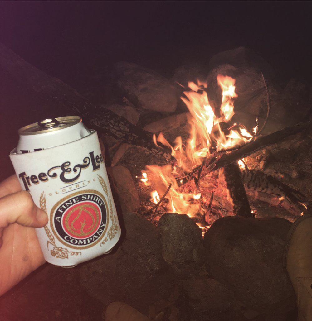 Cold brewski. Every time we go camping I make it a point to start a fire using only a lighter and whatever I can find around me. This trip I decided to save myself some time and energy and bring lighter fluid. Guess what? I forgot it, so back to the ol' grind.