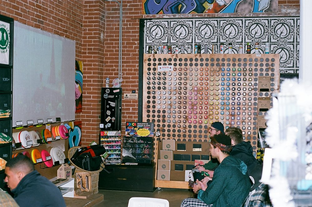 Dusty put together a nice big screen so we could set up the N64 on the projector in the back. It was a big hit!