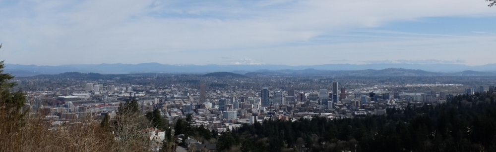 The skies parted for us while we were in town, so Mt. Hood, Mt. Washington, and Mt. Jefferson were all visible.