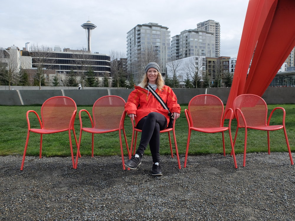 We then wandered through Olympic Sculpture Park. The views couldn't be any better!