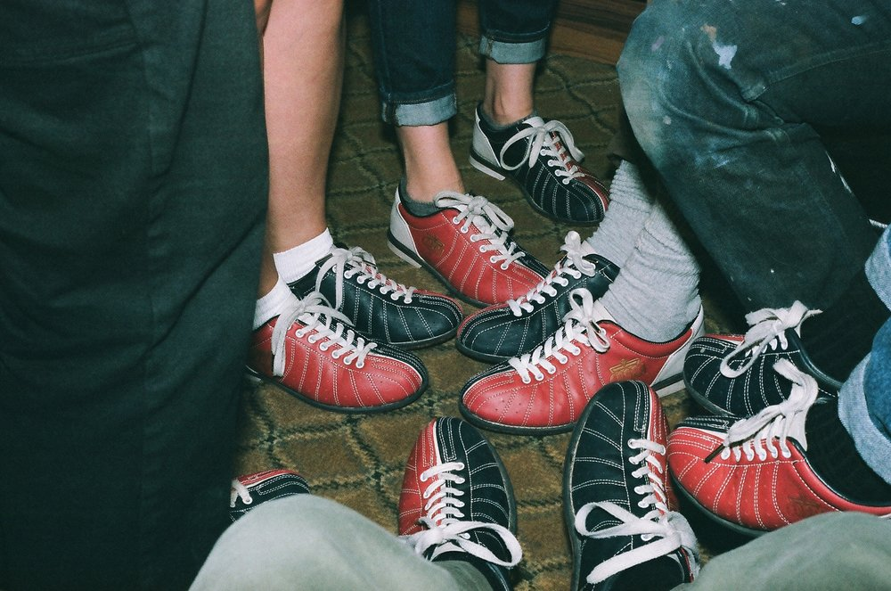 First things first. EVERYONE PUT ON THEIR BOWLING SHOES!