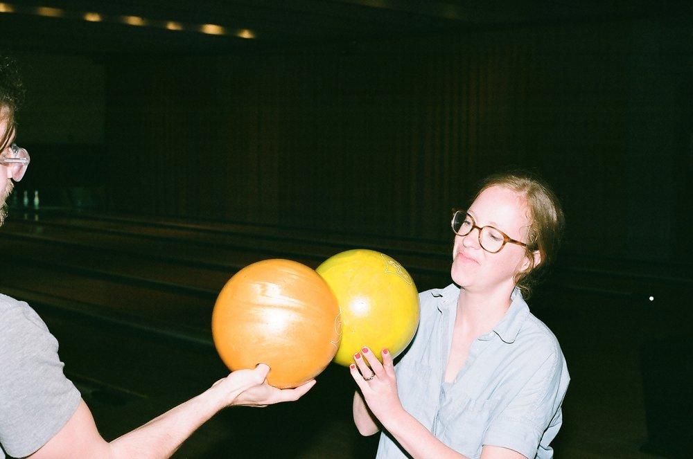 Touching balls for good luck.