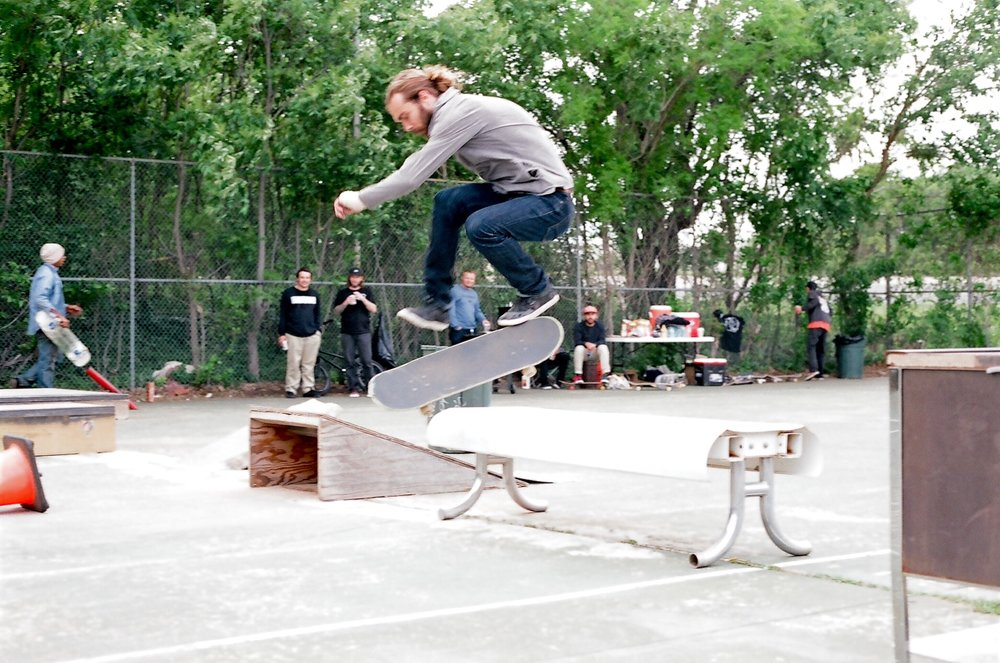 There he is! Ollie sex change over the bench.
