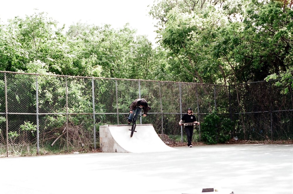 BMX brother, Manny, disastering it up.