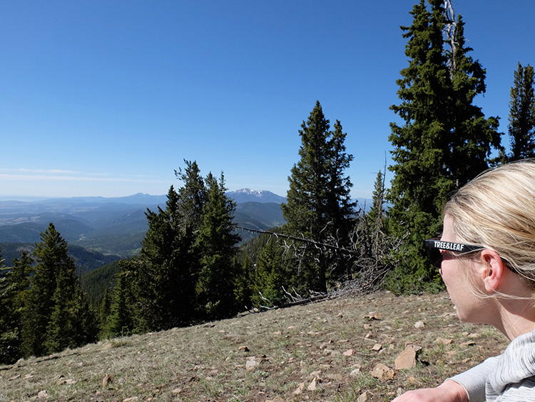 Kristen enjoying the view of Wheeler peak just south of us.