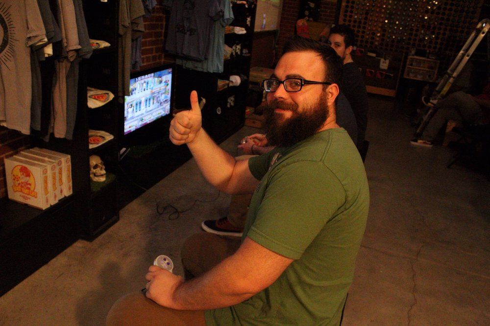 2nd place winner of the first Retro Game Night, Austin Sanders, swung by to hold down his title.