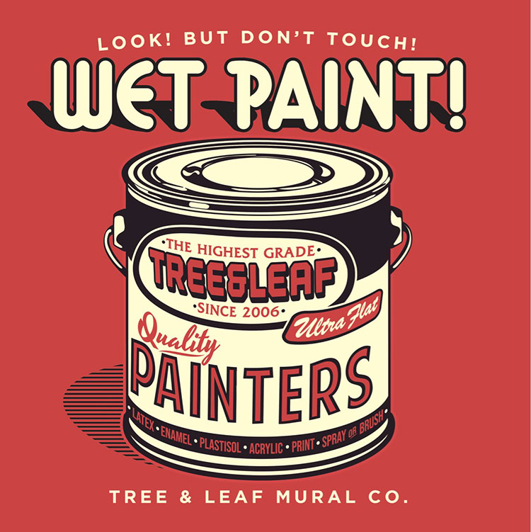 Late last night I had an idea I wanted to illustrate, and I'm glad I stayed up to finish it out. Totally inspired by vintage paint cans and 'wet paint' signs. I have the perfect shirt to print these on, so hopefully I'll have these ready to sell at Habit Fest this weekend. Whatever I don't sell, I'll bring back and put on the website.