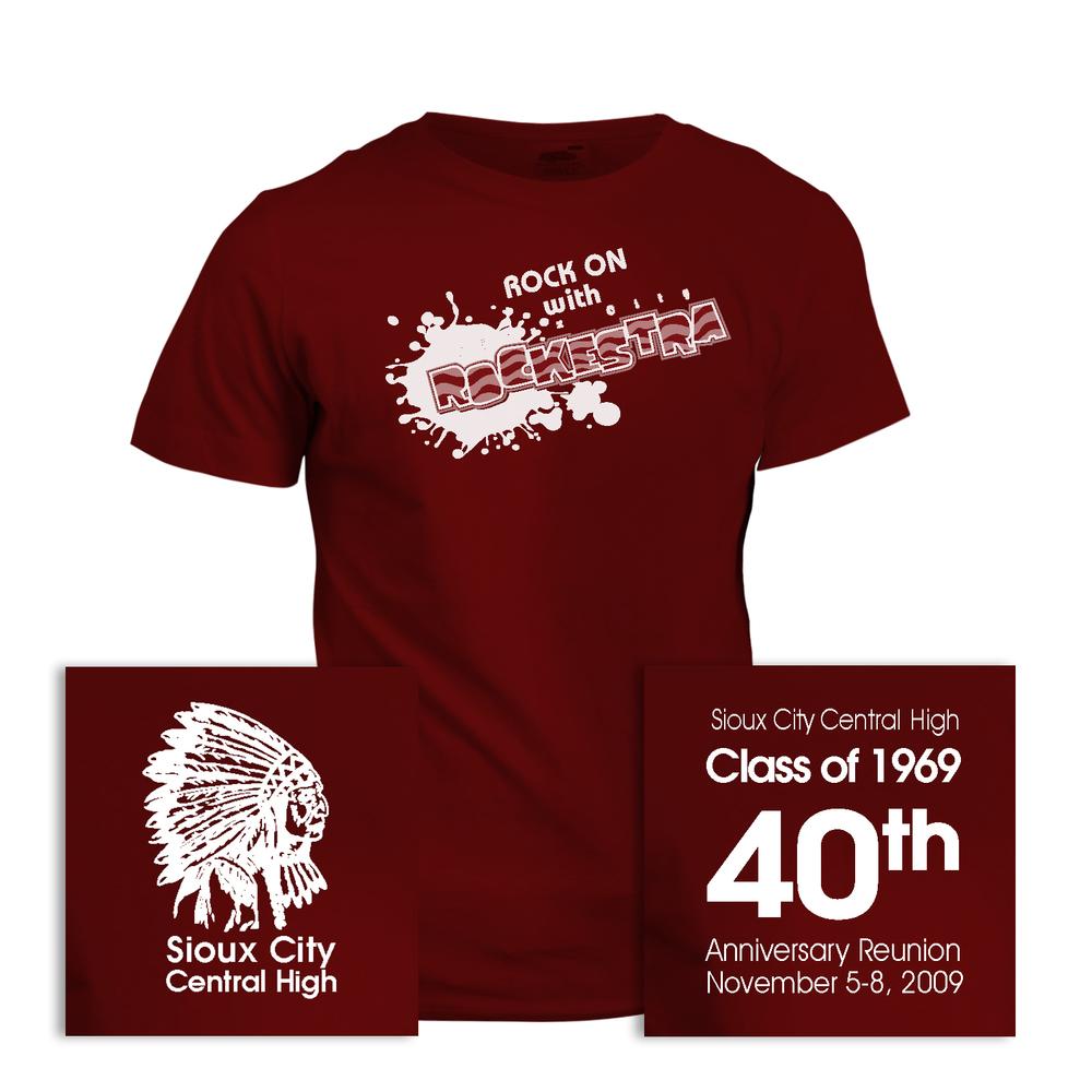 Design t shirt for class - Design Tshirt Reunion Sioux City High Class Of 1969 40th Anniversary Reunion T Shirt Full