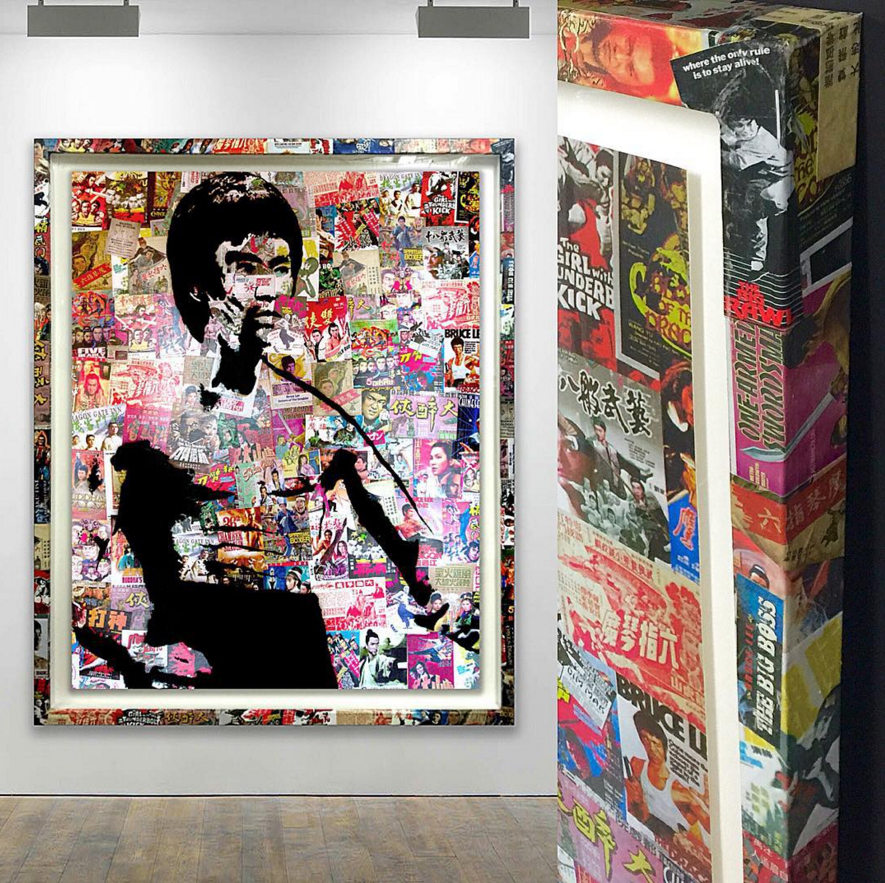 Bruce Lee - Collaged Frame