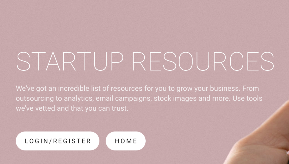 Access Startup Resources -