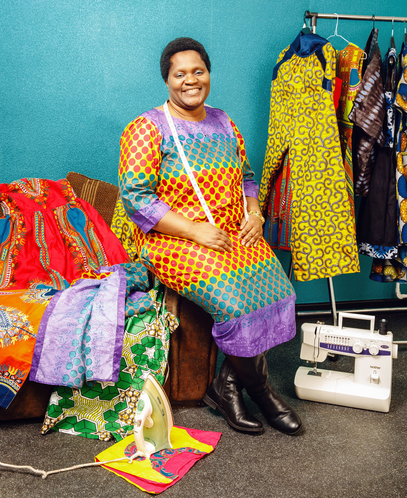 Faith Gakanje-Ajala, founder of Fagee Fashions (Zimbabwean).