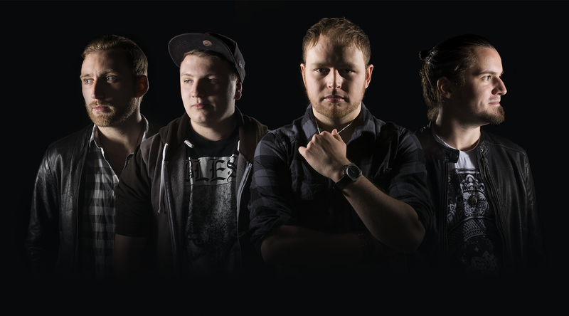 From left to right: Alex Coleman (Guitar), Aled Roberts (Bass), Nick Pilgrim (Vocals), Simon Whitney, (Drums)