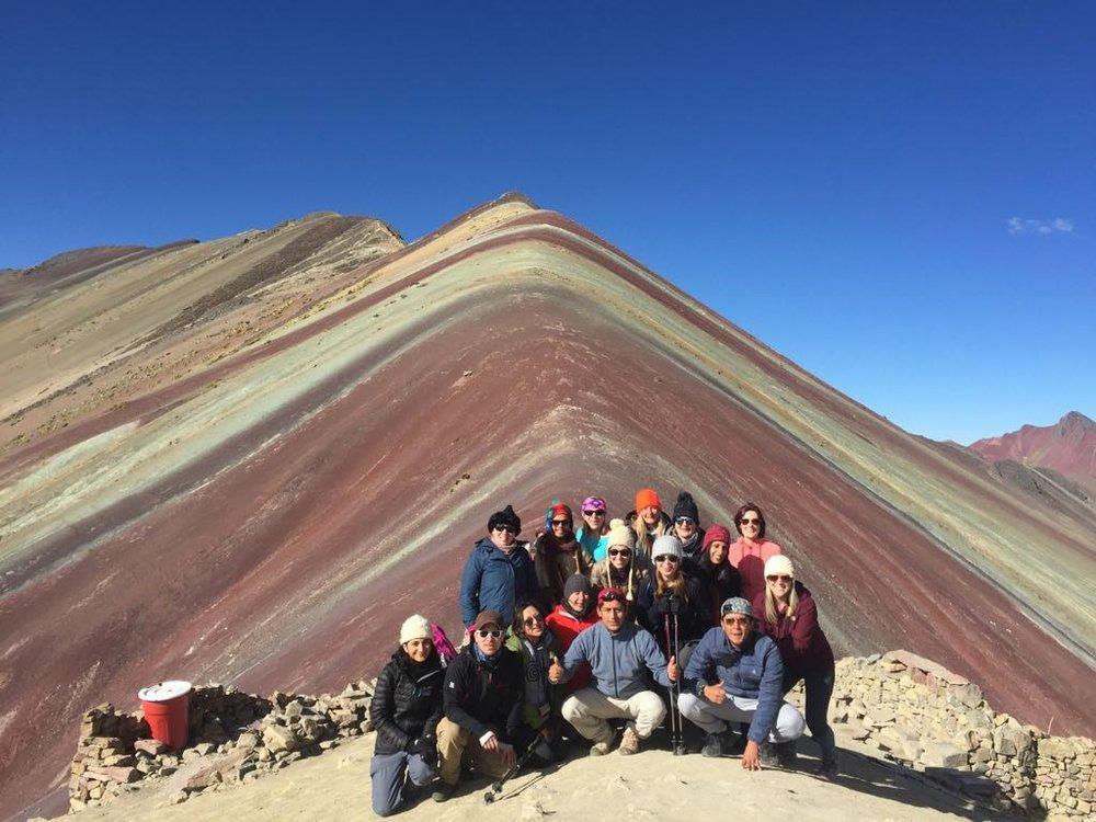Rainbow Mountain summit in Peru