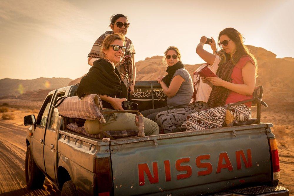 Group adventure in Jordan (credit James Hall)