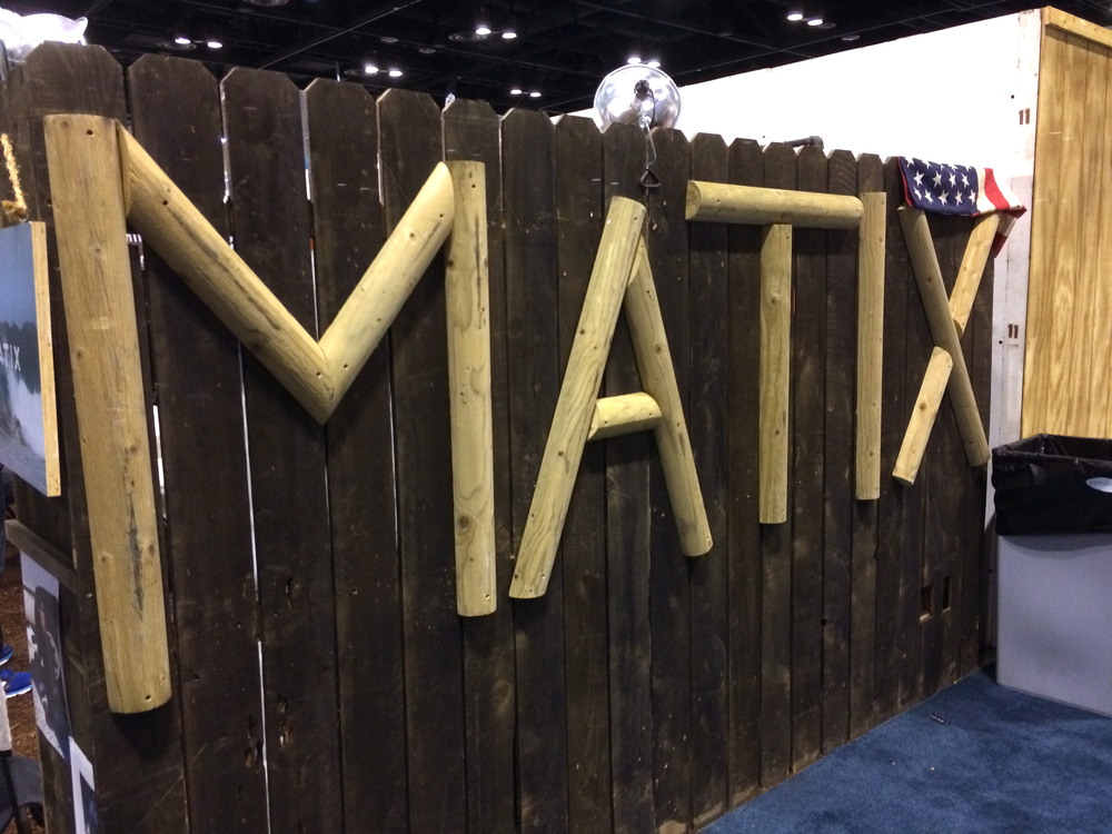 Wood Matix sign (camp style)