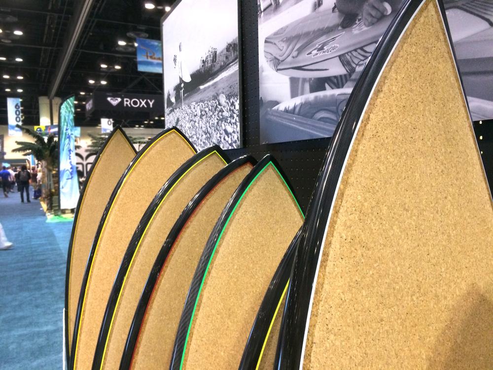 Cork decks for Lost Surfboards.