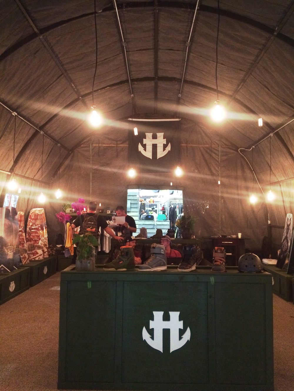 Cool military-inspired booth