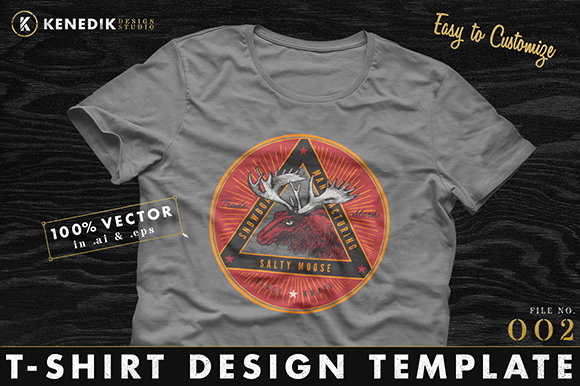 T-Shirt Template 002   on Creative Market