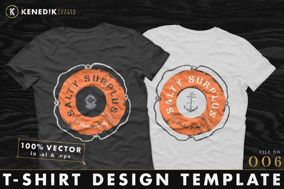 T-Shirt Template 006 on Creative Market