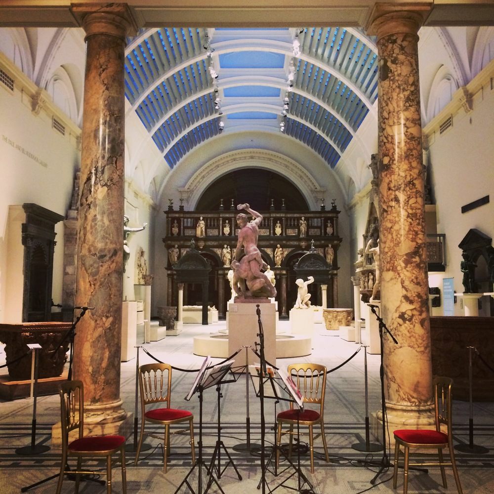 Performing at the V & A Museum for a private exhibition viewing
