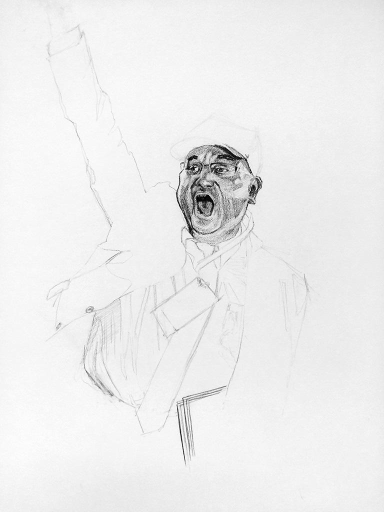 "untitled, 18""x24"", graphite, 2016."