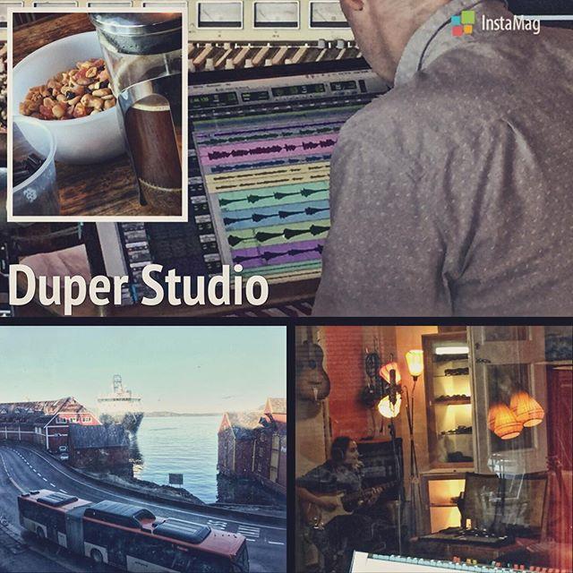 God morgen! Siste uken i studio 😢 Finværet er her, vi er glade for solen som skinner 😎  #mksmarvellousmedicine #duperstudio #album