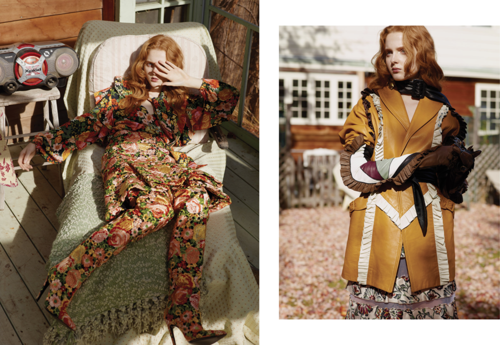 Madison Stubbington is wearing: On the left: Everything Balenciaga. On the right: Everything Rodarte.