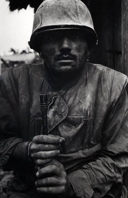 Shell Shocked Marine, Vietnam, 1968. Photograph by Don McCullin.