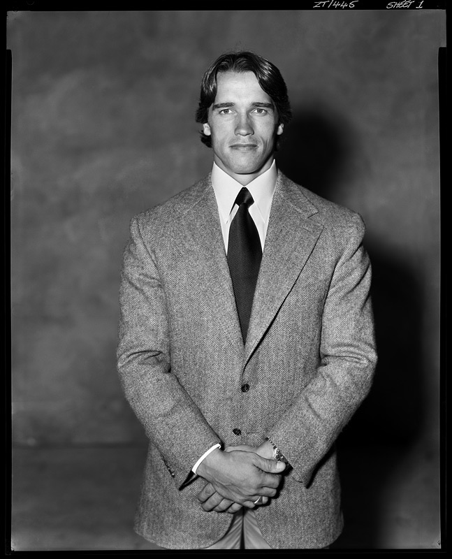 Arnold Schwarzenegger, 1977. Photograph by Brian Duffy.