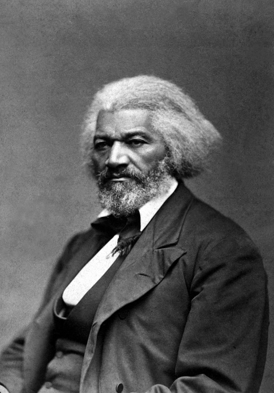 An 1879 portrait of Frederick Douglass. Photographer unknown.