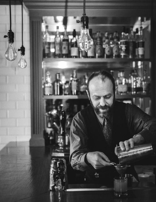 Bartender Fred Yarm at the Russell House Tavern