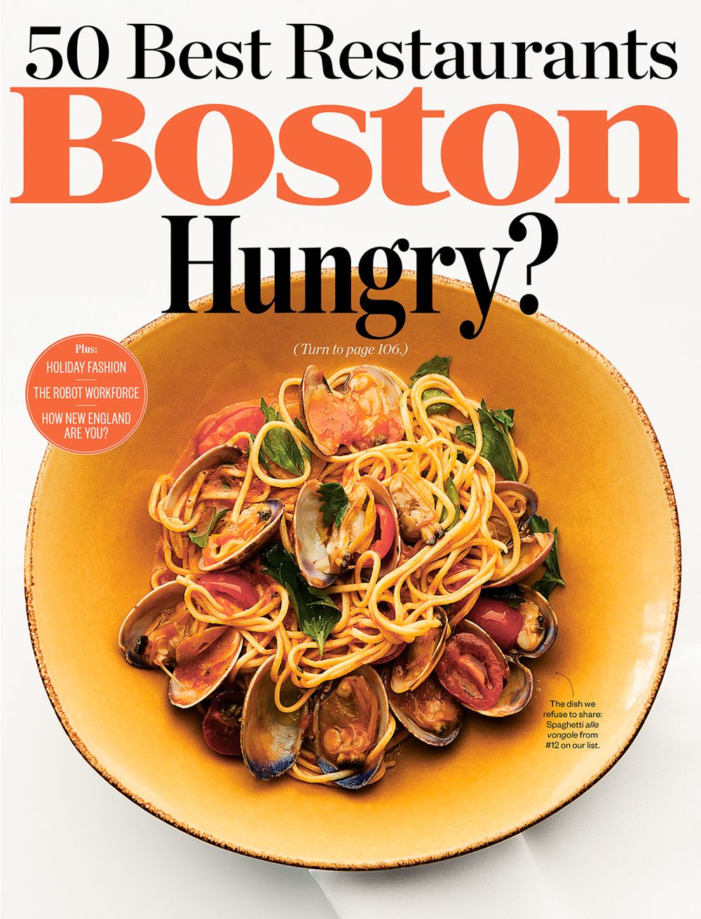 Boston Magazine Cover photographed by Adam DeTour