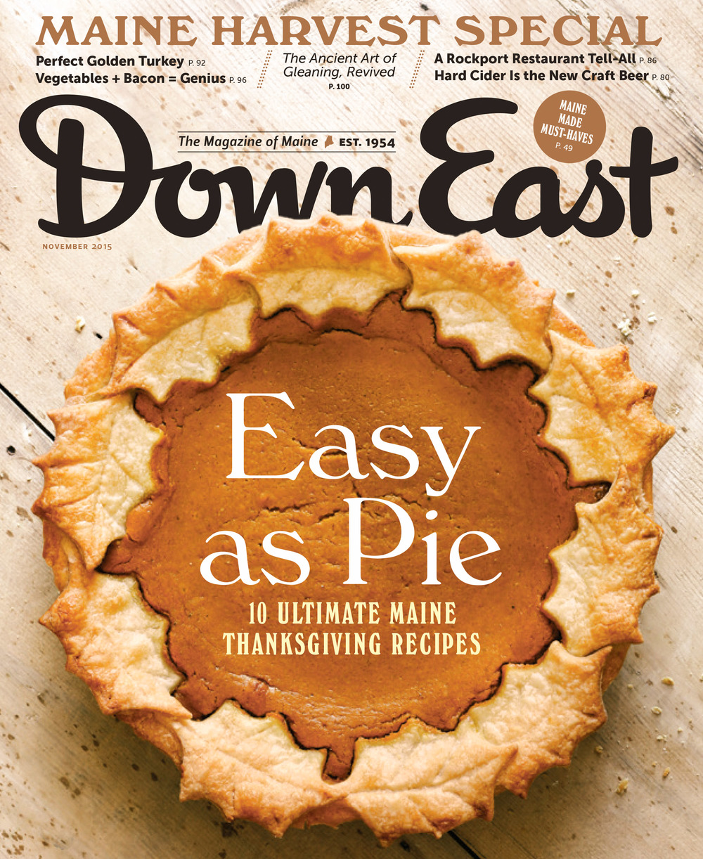 Cover of DownEast magazine by Adam DeTour