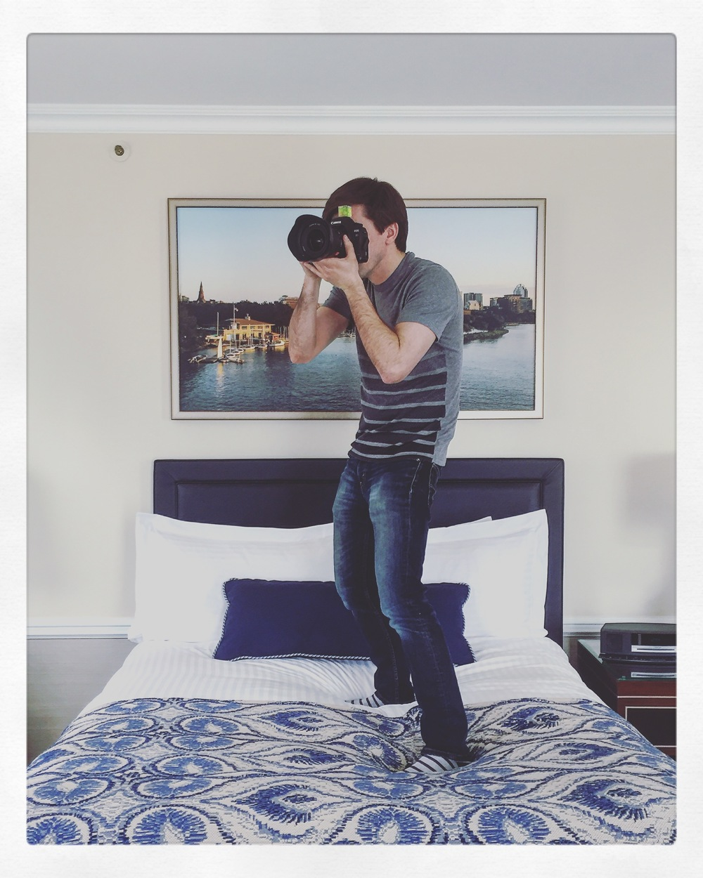 Sometimes you've gotta jump on the bed to get the shot.