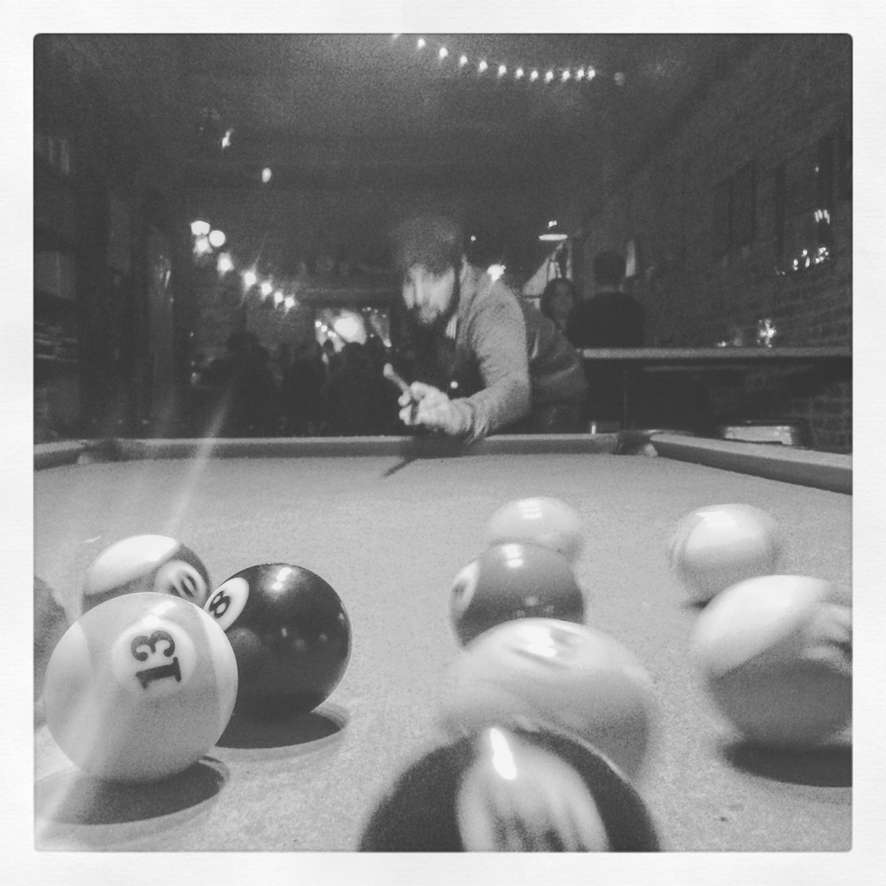 Took a little break in Washington DC to have a drink and play some pool.  I lost.