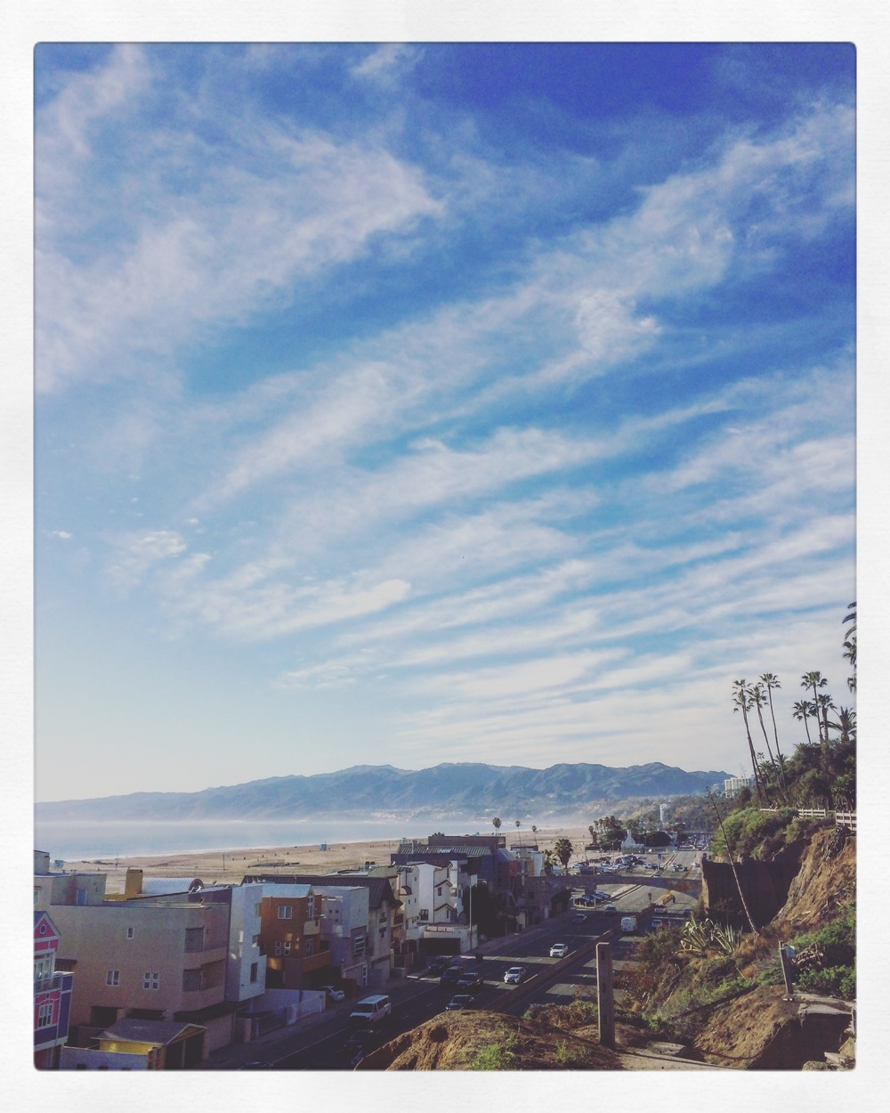 We spend our down day in LA down in Santa Monica under a perfect sky.