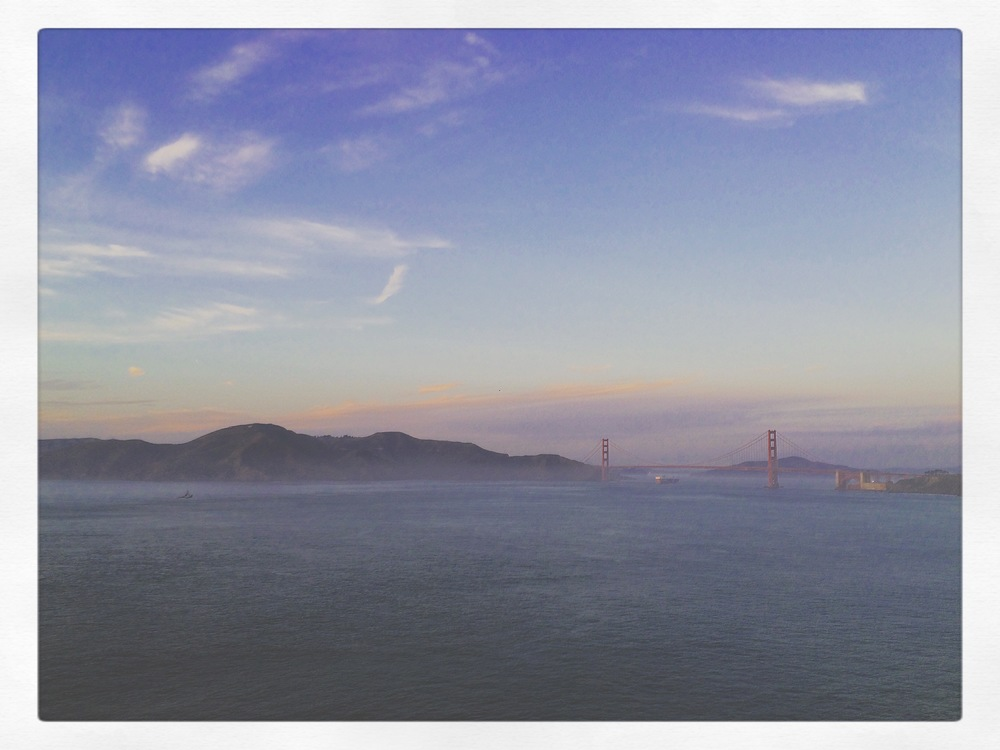 Had a chance to get up on the cliffs for a view of the Golden Gate Bridge in SF