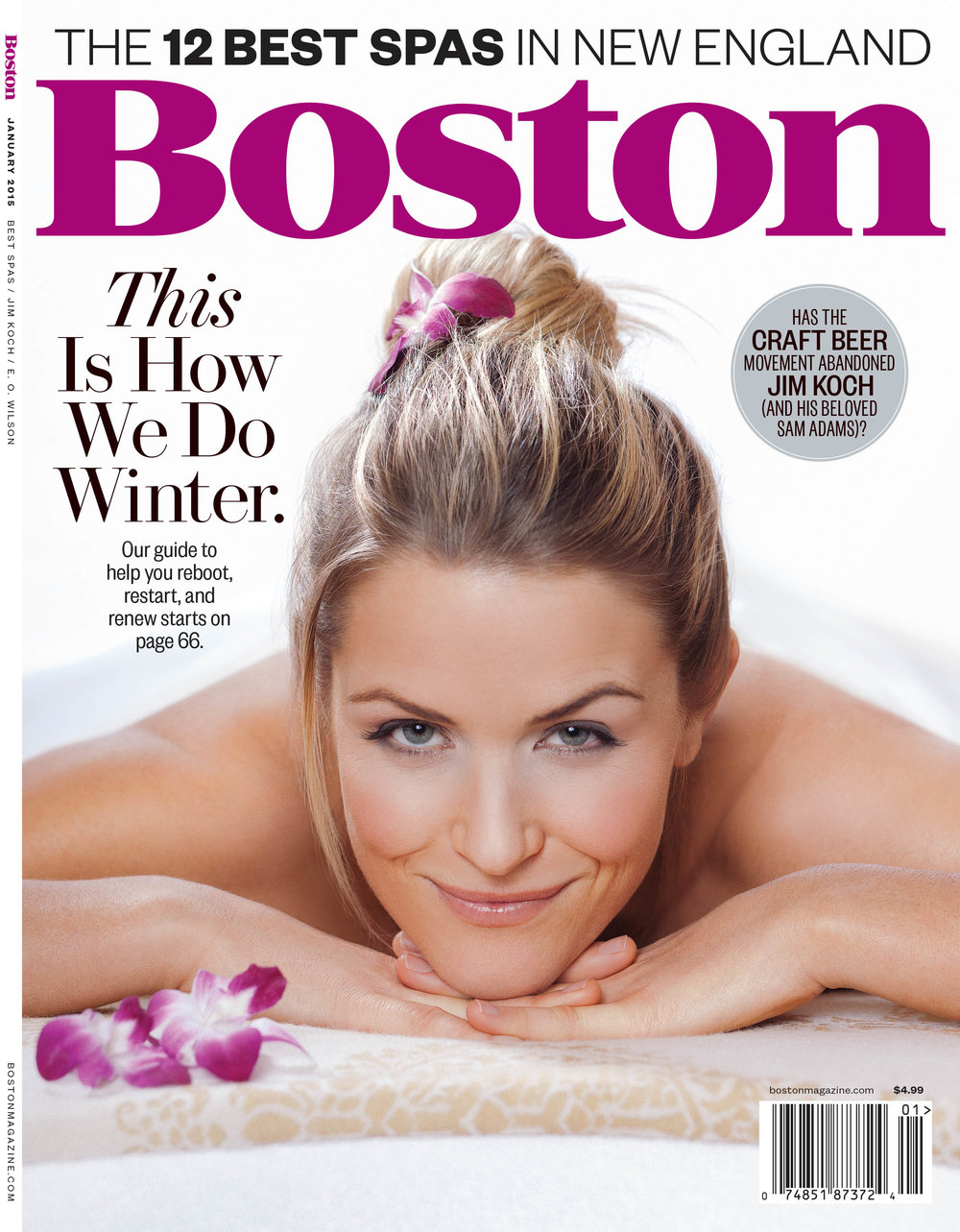 Cover of Boston Magazine by Adam DeTour