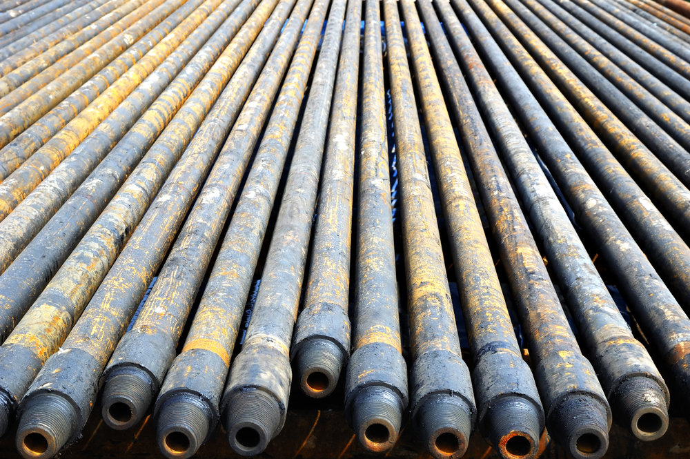 Threaded pipes for oil exploration. This image represents wrongful death litigation.