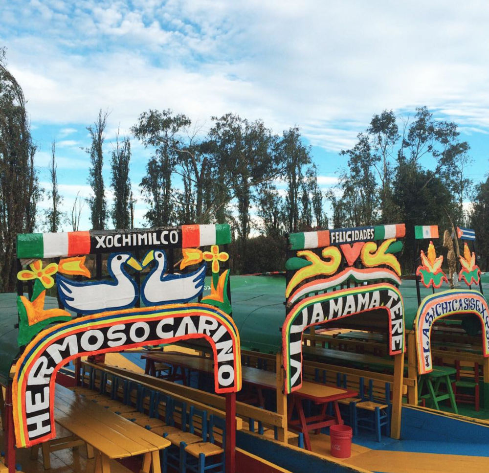 Xochimilco is a MUST when you're in Mexico City. Bring your friends and buy some micheladas before you hop on! Photo by Patty Delgado.