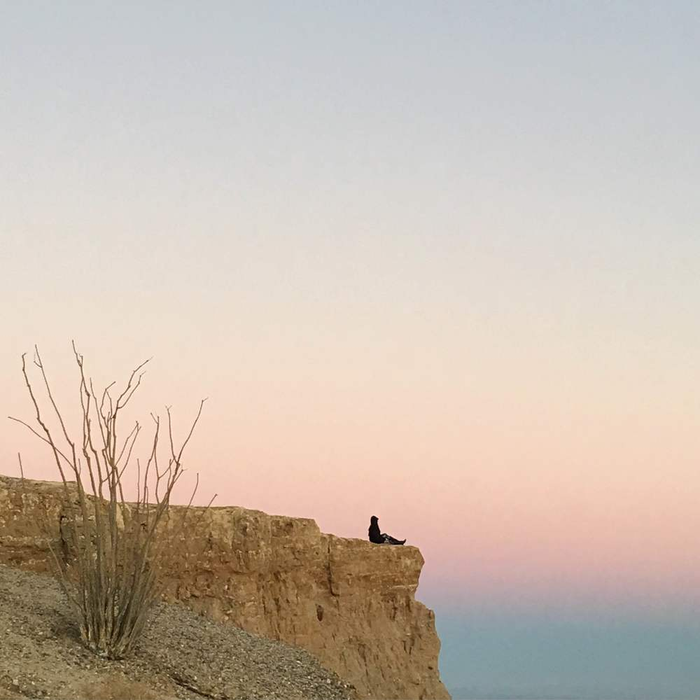 Front row view of the sunset at Font's Point in Anza Borrego, CA.